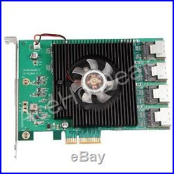 16 Anschlüsse Pci-Express Pci-E Sata 3.0 III 6Gbps Kontrolleur Erweiterungskarte