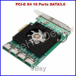 16 Porte Pci-Express Pci-E Sata 3.0 III 6Gbps Controller Scheda D'Espansione