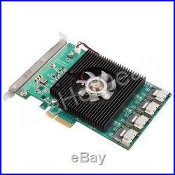 16 Ports PCI-Express PCI-e SATA 3.0 SATA III 6Gbps Controller Expansion Card