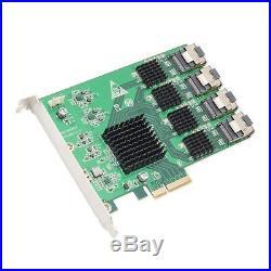 16 SATA-3 Ports Mini SAS to SATA PCI-e Card x4 Slot PCI-Express 2.0 Marvell 9215
