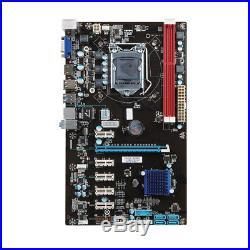 2017 6 GPU Dual-Channel Mining Motherboard PCI-E Extender Riser Card For BTC BT
