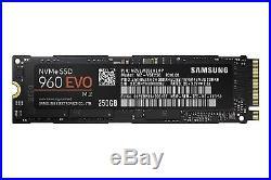 250GB SSD Samsung Internal Solid State Drive PCI-e NVMe MZ-V6E250BW 960 EVO M. 2