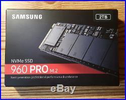 2TB Samsung 960 PRO M. 2 NVMe PCI-Express SSD Solid State Drive MZ-V6P2T0BW 2280