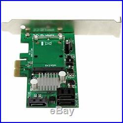 3 Port PCI Express 2.0 SATA III 6 Gbps RAID Controller Card With MSATA Slot SSD