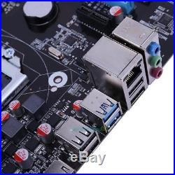 4-Phase Power Supply Support 6 PCI-E SATA III Ext ATX Motherboard Miner Machine