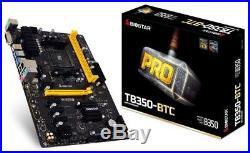 6 GPU Biostar TB350-BTC Socket AM4 Motherboard 6 PCI-E Bitcoin BTC Mining