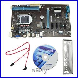 6 GPU H81 16GB Dual-Channel 1150 Mining Motherboard 6 PCI Express Component