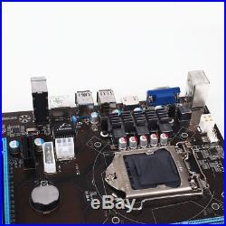 6 GPU H81 Mining Miner Motherboard PCI-E Extender For BTC Eth Rig Mini SATA III
