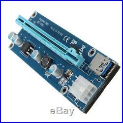 6 GPU Mining Motherboard+6Pcs PCI-E Extender Riser Card For BTC Eth Rig Ethereum