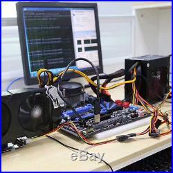 6GPU 7USB LGA 1150 PCI Express 16X Extender Mining Motherboard Adapter Power BTC