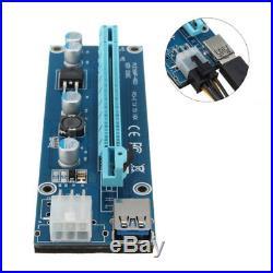 6GPU Mining Motherboard 16GB PCI-E Extender Riser Card For BTC Eth Rig Ethereum
