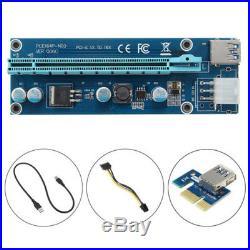 6GPU Mining Motherboard 16GB PCI-E Extender Riser Card For BTC Rig Ethereum Nice