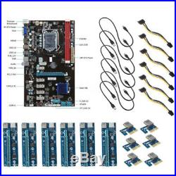 6GPU Mining Motherboard 6PCI-E Extend Rise Card Fit BTC Eth Rig Ethereum Tablet