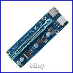 6GPU Mining Motherboard+6Pcs PCI-E Extender Riser Card For BTC Eth Rig Ethereum