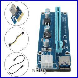 6GPU Mining Motherboard PCI-E Extender Riser Card For BTC Eth Rig Ethereum Novel