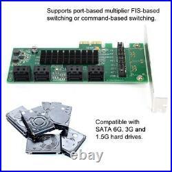 8-Port PCI-E PCI Express to SATA 3.0 Expansion Controller Card Adapter SATAIII