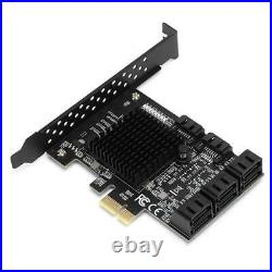 8 Port PCI-E to SATA3.0 Controller Expansion Board Adapter Card 6Gbps for Win10