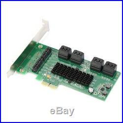 8 Port SATA III PCI Express Controller Card PCI-E to SATA 3.0 Adapter Converter