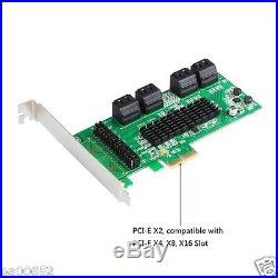 8 Ports SATA III 6GB PCI Express Controller Card PCI-e to SATA 3.0 Converter