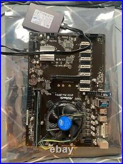 ASROCK H110 PRO BTC+ CPU G3900 +DDR4 4GB + SSD120GB Mining Motherboard COMBO