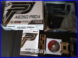 ASRock AB350M Pro4 AM4 AMD Promontory B350 SATA 6Gb/s USB 3.1 HDMI Micro ATX AMD