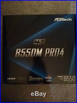 ASRock B550M Pro4 AMD Socket AM4 3rd Gen M-ATX USB C 3.2 Motherboard RGB Headers