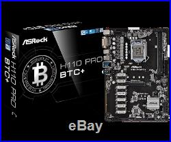 ASRock H110 Pro BTC+ Mining Motherboard with 13 PCI Express Slots New In Box