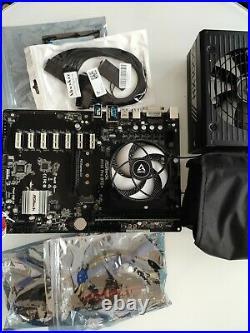 ASRock H110 Pro Mining motherboard 13GPU +intel I3 6100t +8gb ddr4 +240gb+Hx1000