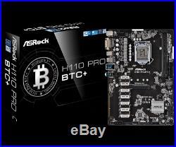 ASRock Intel H110 Pro BTC+ 13 PCIe Cryptocoin Mining ATX Motherboard Bitcoin