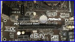 ASRock P67 Extreme4 Gen3 LGA 1155 SATA3 6Gb/S Motherboard i5 2500k TESTED