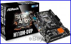 ASRock PCI-Express 3.0 DDR4 Intel LGA 1151 SATA III Motherboard (H110M-DVP)