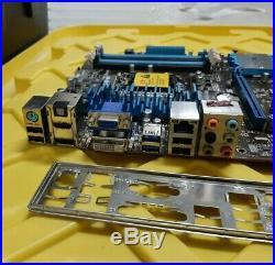 ASUS P8H77-V LGA1155 H77 Dual PCIE x16, DP, HDMI, DVI, VGA Ports + IO shield