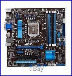 ASUS P8Z77-M Mainboard LGA1155 PCI-e 3.0, USB 3.0 SATA III DDR3-2400 Zub. #333