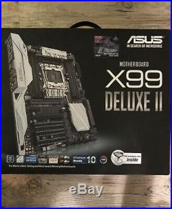 ASUS X99-DELUXE II ATX Mainboard Skt 2011 Intel X99 Motherboard With I/O Shield
