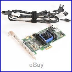 Adaptec ASR-6405E 6Gb/s 4-Port PCI-E X1 128MB SAS/SATA RAID Adapter with Cable