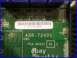 Adaptec ASR-72405 1024 Mb 6 Gb/s Mini SAS HD RAID Card With BBU+ Cables