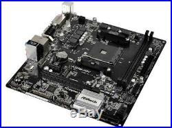 Asrock A320M-HDV R4.0, AMD A320 AM4 Micro ATX DDR4 M. 2 USB 3.0 Ryzen Motherboard