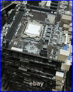 Asrock H81 B85 Pro BTC Motherboard with CPU & RAM Used for GPU Mining