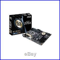 Asus Motherboard Z170-K Z170 Core i7/i5/i3 S1151 DDR4 pci-e 3.0 SATA ATX
