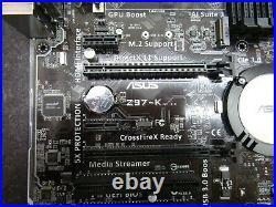 Asus Z97-K LGA1150 DDR3 Z97 Intel Chipset HDMI DVI VGA ATX Motherboard and IO