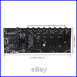 B250 8 GPU Mining Motherboard Mainboard LGA 1151 DDR3 Memory PCI-E X16 SATAIII