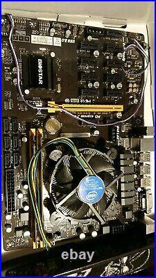 BIOSTAR TB250-BTC Intel CPU LGA1151 Motherboard 8GB DDR4 BITCOIN MINING