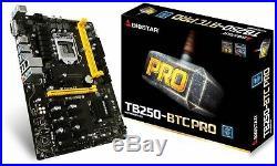 BIOSTAR TB250-BTC PRO 12 GPU Mining Motherboard Ships SAME DAY