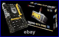 BIOSTAR TB250-BTC PRO LGA 1151 Intel B250 USB 3.0 MINING ATX Motherboard 12GPU