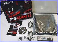 BRAND NEW Gigabyte Z170-Gaming K3-EU LGA1151 ATX USB 3.0, SATA 3 DVI Motherboard