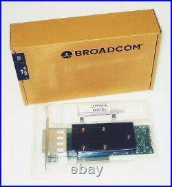 BROADCOM 9400-16e 05-50013-00 12Gb/s 16-Port SAS PCI-E 3.1 x8 Ext. Tri-Mode HBA