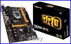 Biostar Motherboard TB250-BTC Core i7/i5/i3 LGA1151 Intel B250 DDR4 SATA PCI
