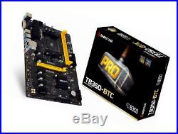 Biostar Motherboard TB350-BTC AMD Ryzen CPU B350 DDR4 SATA PCI Express USB ATX R
