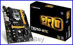Biostar TB250-BTC Motherboard CPU i3 i5 i7 LGA1151 Intel DDR4 DVI USB3 5x PCI-E