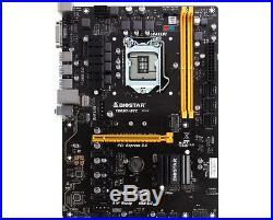 Biostar TB250-BTC Motherboard CPU i3 i5 i7 LGA1151 Intel DDR4 DVI USB3 6x PCI-E